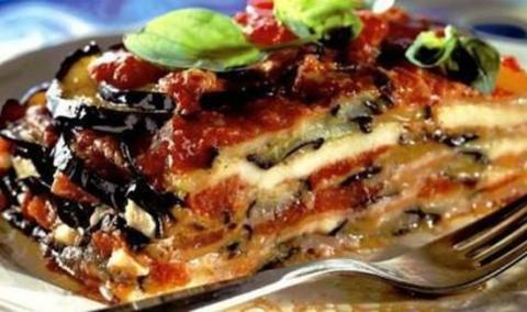 Melanzane alla parmigiano e risoni